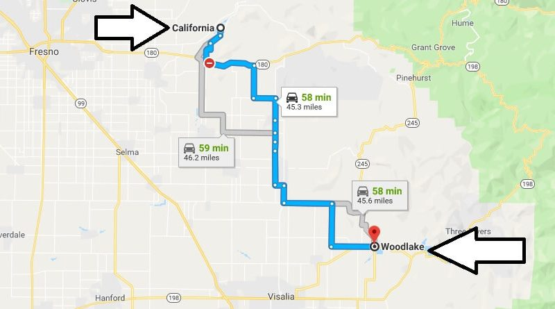 Where is Woodlake California (CA), Located Map? What County is Woodlake?