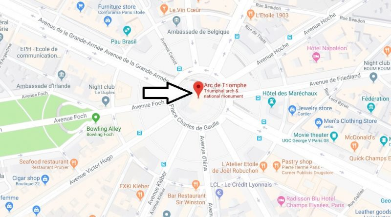 Where is Arc de Triomphe? What Country is Arc de Triomphe in? Arc de Triomphe Map