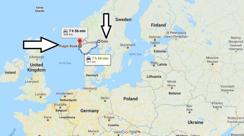 Where is Preikestolen? What Country is Preikestolen in? Preikestolen Map
