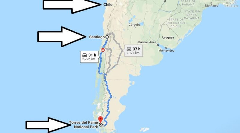 Where is Torres del Paine National Park? What Country is Torres del Paine National Park in? Torres del Paine National Park Map