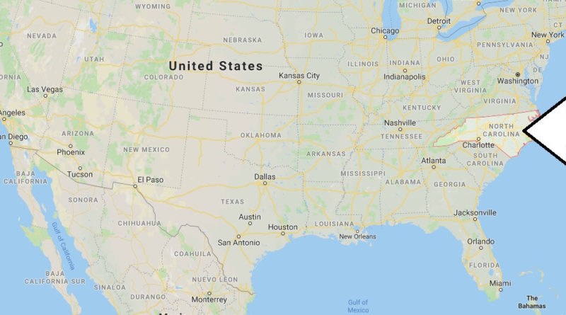 Where is North Carolina? What Country is North Carolina in? North Carolina Map