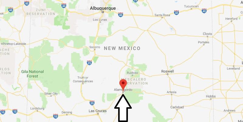 Where is Alamogordo, New Mexico? What State is Alamogordo? Alamogordo Map Located