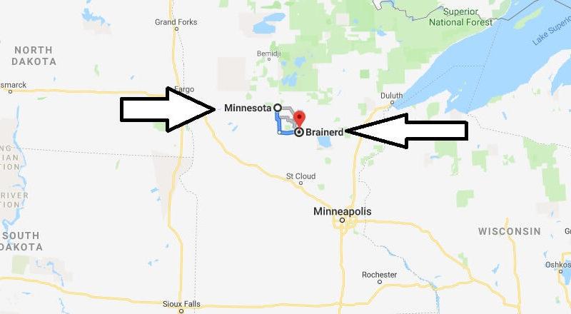 Where is Brainerd, Minnesota? What County is Brainerd? Brainerd Map Located