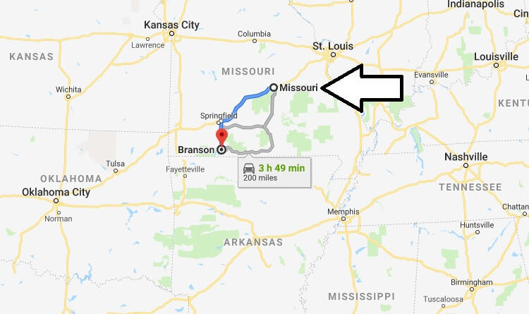 Where is Branson, Missouri? What County is Branson? Branson Map Located