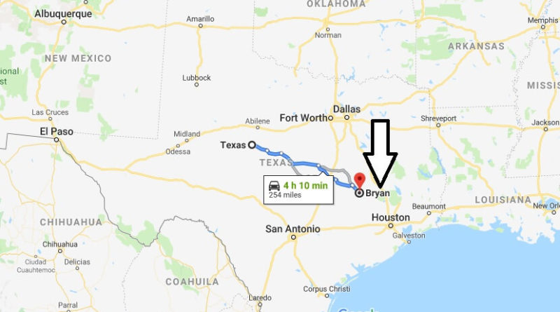 Where is Bryan, Texas? What County is Bryan? Bryan Map Located