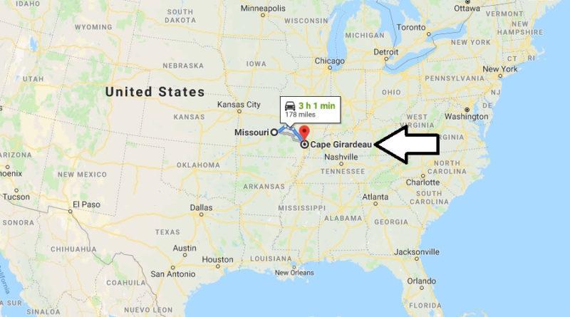 Where is Cape Girardeau, Missouri? What County is Cape Girardeau? Cape Girardeau Map Located