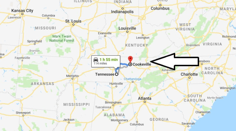 Where is Cookeville, Tennessee? What County is Cookeville? Cookeville Map Located