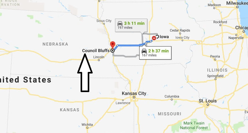Where is Council Bluffs, Iowa? What County is Council Bluffs? Council Bluffs Map Located