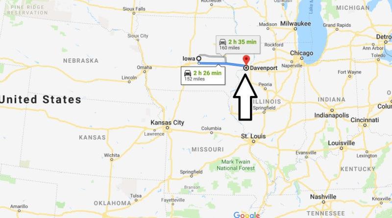 Where is Davenport, Iowa? What County is Davenport? Davenport Map Located