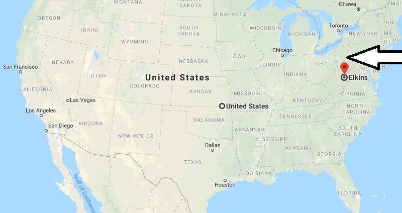 Where is Elkins, West Virginia? What County is Elkins? Elkins Map Located