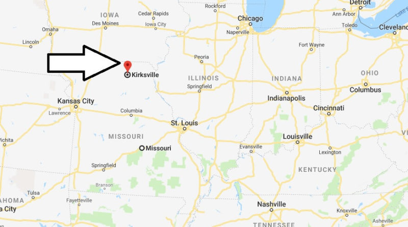 Where is Kirksville, Missouri? What County is Kirksville? Kirksville Map Located