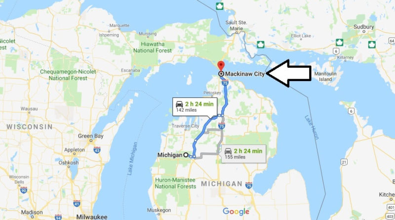 Where is Mackinaw City, Michigan? What County is Mackinaw City? Mackinaw City Map Located