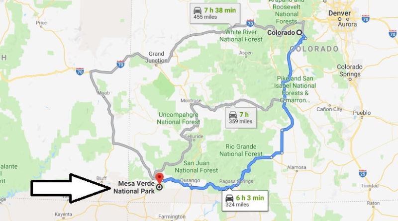 Where is Mesa Verde National Park? What city is Mesa Verde? How do I get to Mesa Verde