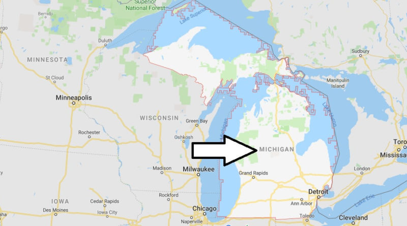 Where is Michigan State? Where is Michigan Located in The World? Michigan State Map