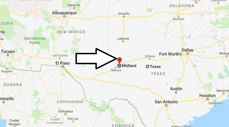 Where is Midland, Texas? What County is Midland? Midland Map Located