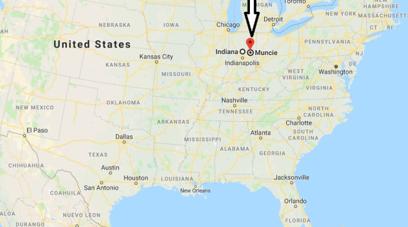 Where is Muncie, Indiana? What County is Muncie? Muncie Map Located