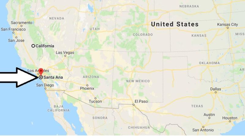 Where is Santa Ana, California? What County is Santa Ana? Santa Ana Map Located
