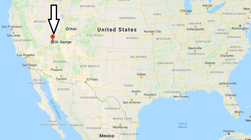Where is St. George, Utah? What County is St. George? St. George Map Located