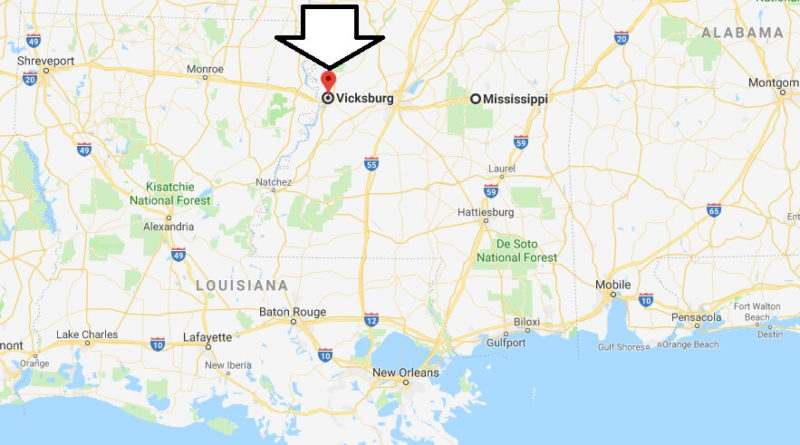 Where is Vicksburg, Mississippi? What County is Vicksburg? Vicksburg Map Located