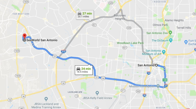 Where Is Seaworld San Antonio Located Prices Tickets Hours Map