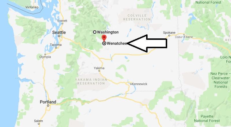 Where is Wenatchee, Washington? What County is Wenatchee? Wenatchee Map Located
