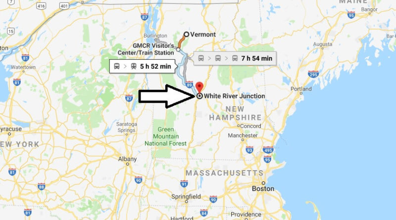 Where is White River Junction, Vermont? What County is White River Junction? White River Junction Map Located