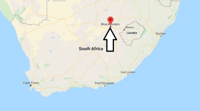 Bloemfontein South Africa Map Where is Bloemfontein Located? What Country is Bloemfontein in