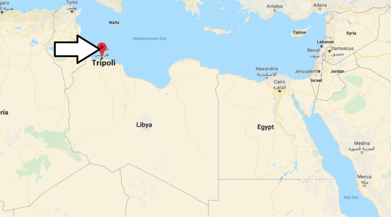 tripoli on world map Where Is Tripoli Located What Country Is Tripoli In Tripoli Map