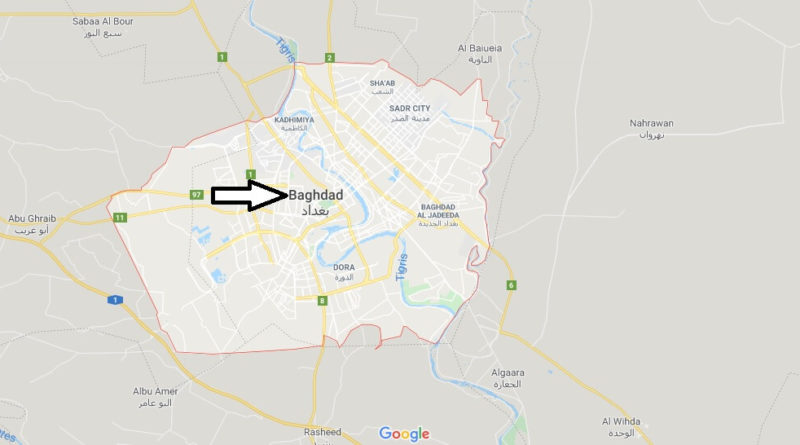 Baghdad Map and Map of Baghdad, Baghdad on Map | Where is Map