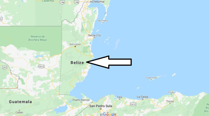 Belize Map And Map Of Belize Belize On Map Where Is Map