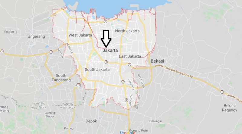 Jakarta Map And Map Of Jakarta Jakarta On Map Where Is Map