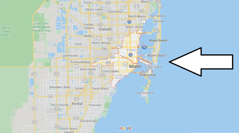 miami map and map of miami, miami on map | where is map