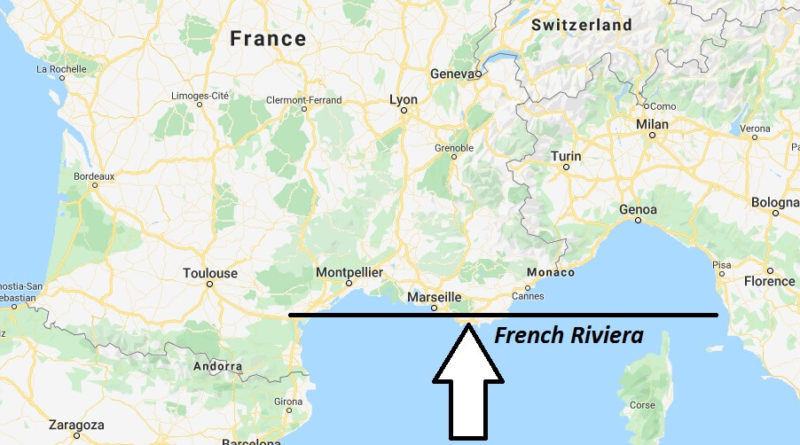 Where is French Riviera Located? What Country is French Riviera in? French Riviera Map