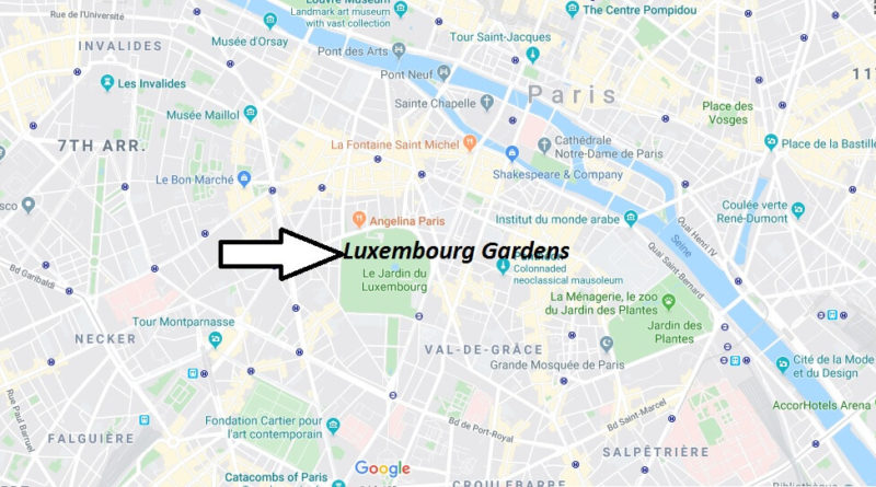 Where is Luxembourg Gardens Located? What Country is Luxembourg Gardens in? Luxembourg Gardens Map
