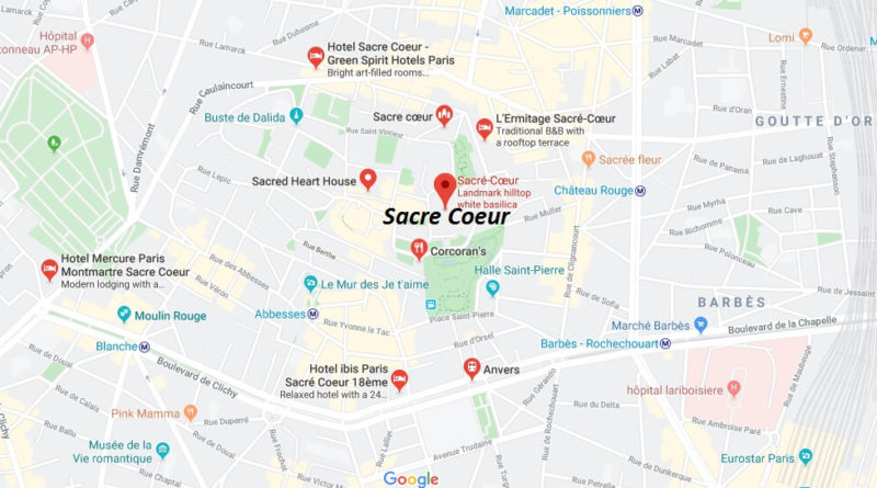 Where is Sacre Coeur Located? What Country is Sacre Coeur in? Sacre Coeur Map