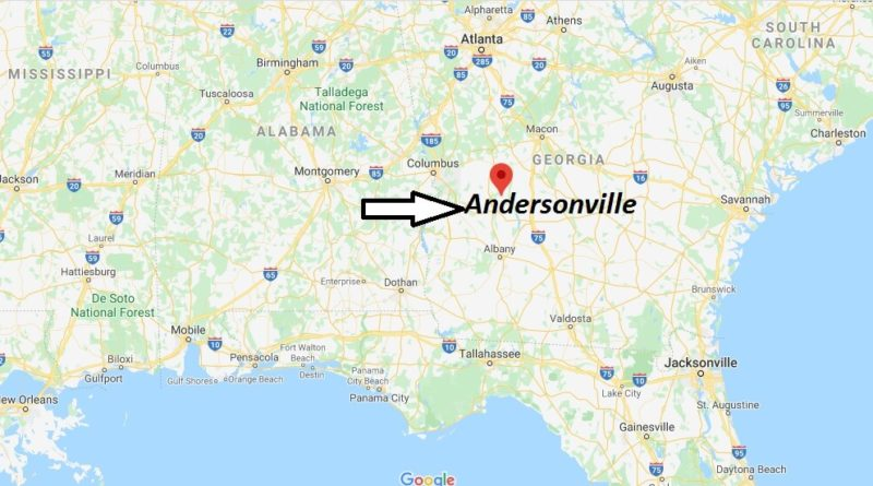 Where is Andersonville, Georgia? What county is Andersonville in? Andersonville Map