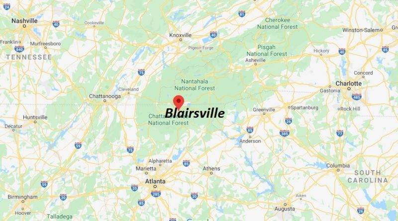 Where is Blairsville, Georgia? What county is Blairsville in? Blairsville Map