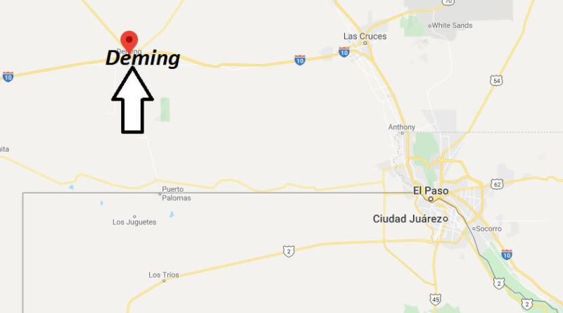 Where Is Deming New Mexico What County Is Deming In Deming Map