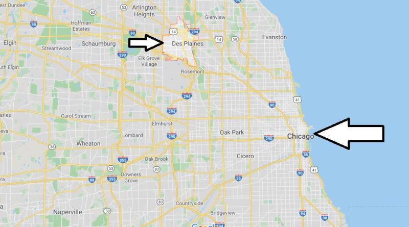 Where is Des Plaines, Illinois? What county is Des Plaines in? Des Plaines Map