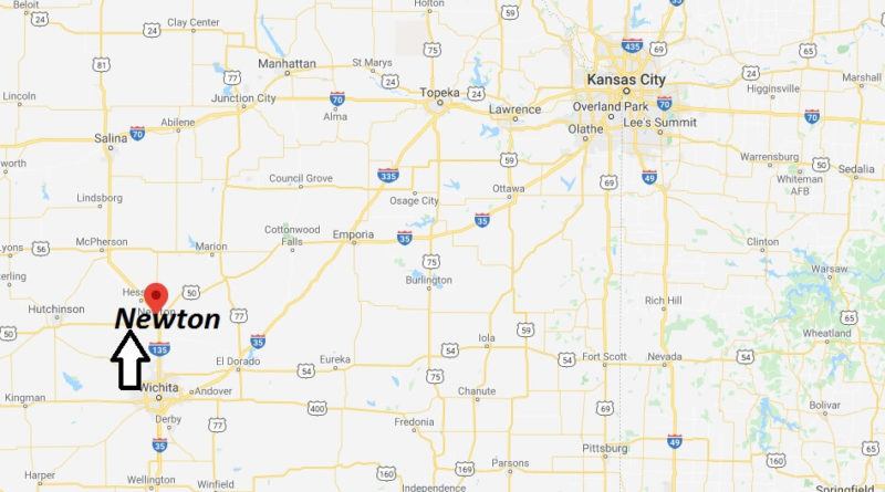 map of newton kansas Where Is Newton Kansas What County Is Newton In Newton Map map of newton kansas