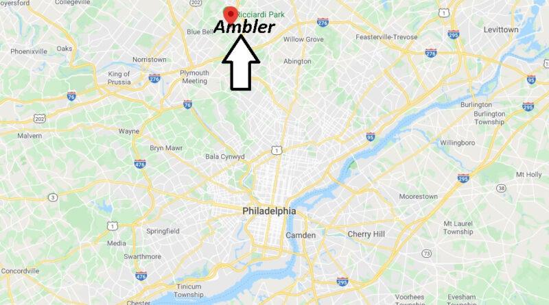 Where is Ambler Pennsylvania? Where is zip code 19002