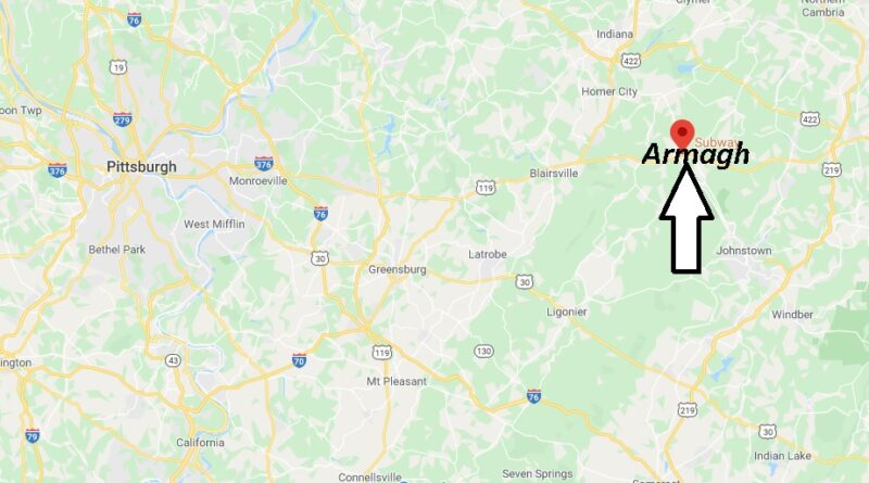 Where is Armagh Pennsylvania? Where is zip code 15920