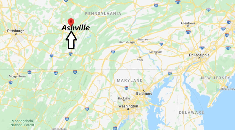 Where is Ashville Pennsylvania? Where is zip code 16613