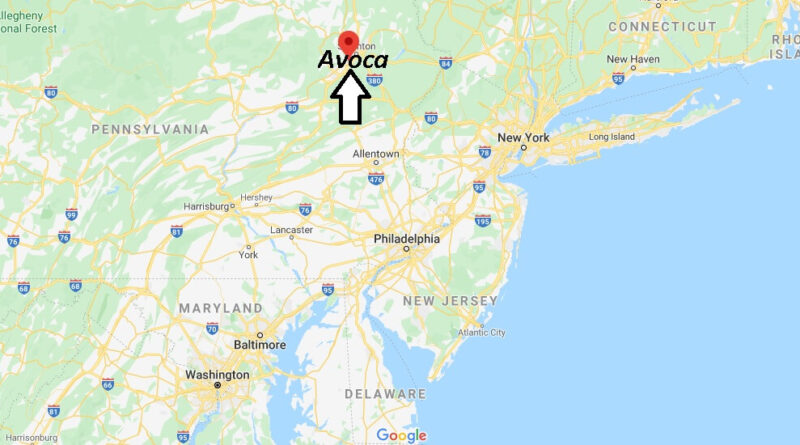 Where is Avoca Pennsylvania? Where is zip code 18641