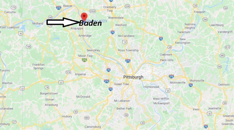 Where is Baden Pennsylvania? Where is zip code 15005