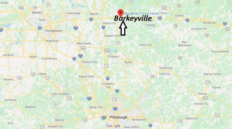 Where is Barkeyville Pennsylvania? What County is Barkeyville in