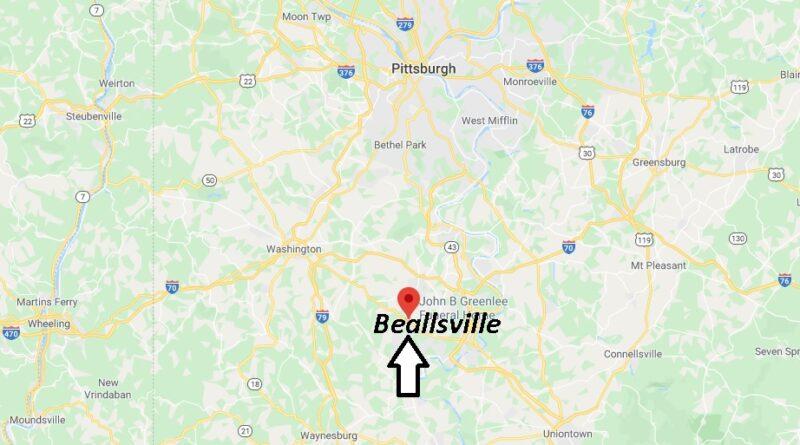 Where is Beallsville Pennsylvania? Where is zip code 15313
