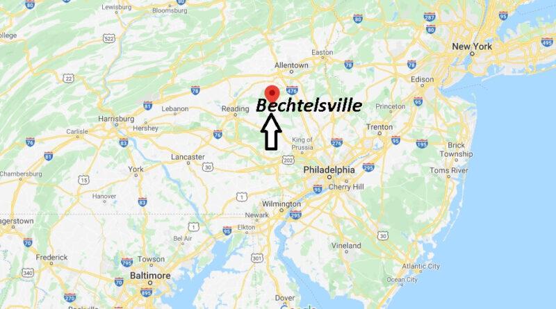 Where is Bechtelsville Pennsylvania? Where is zip code 19505