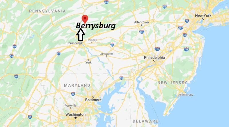 Where is Berrysburg Pennsylvania? Where is zip code 17023