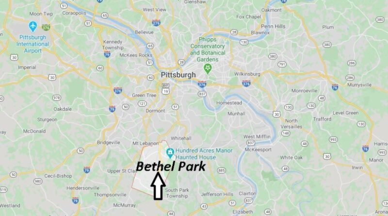 Where is Bethel Park Pennsylvania? Where is zip code 15102